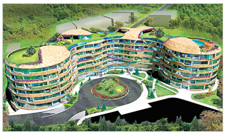 Binalar da organikleşti!