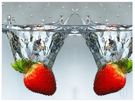 Meyveler su ile buluşunca